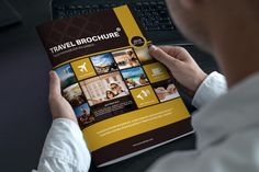Travel Bi Fold Brochure by riverpixels studio on Creative Market