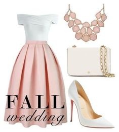 """""""Svelte."""" by bopbopbeebop ❤ liked on Polyvore featuring Chicwish, Christian Louboutin, Tory Burch and fallwedding"""