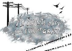 gray days illustration