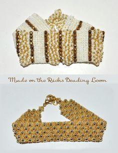 Beautiful bracelets made on the Ricks Beading Loom