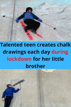 Ever since the pandemic hit us, people have really gotten in touch with their creative side. While being stuck at home with schools and work closed, many of us found ourselves doing projects to keep ourselves occupied. 14-year-old Macaire Everett decided that she wanted to make chalk drawings incorporating her little brother Cam (short for Camden).