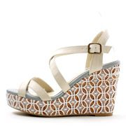Lace Wedge Cross Strap Sandals /KS3550/RANDA