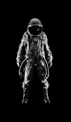 Artist Andrew G. Hobbs image of an astronaut spacesuit