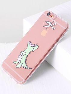 Dinosaur Print Cute iPhone 6/6s Case -SheIn(Sheinside)