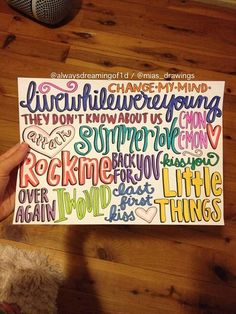 One Direction Take Me Home album song titles art by Miasdrawings, $5.00