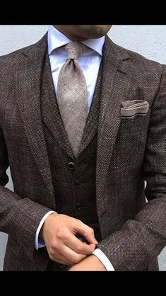 Custom Suits There is absolutely nothing in this world that can replicate the feeling that you get the first time you put on a custom suit that is made solely from your bodies measurements. Mens Fashion Suits, Mens Suits, Men's Fashion, Mens 3 Piece Suits, Fashion Rings, Fashion Styles, Navy Blue Pinstripe Suit, Blazer En Tweed, Man Stuff