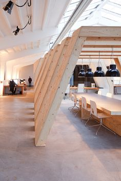 industrial chic office of Amsterdam based creative studio Onesize designed by Origins Architecture