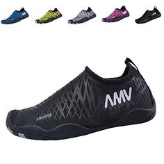 e0f9a14d2 EQUICK Water Sports Shoes Quickdry Casual Sneakers Slipon for Men Women and  KidsCDFS0Black37 --