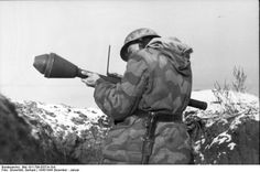 German soldier ready to use a Panzerfaust