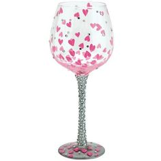 """Lolita Wine Glass Bling Pretty Girl by Lolita. $49.99. Lolita Wine Glass Bling Pretty Girl. This """"SUPER BLING"""" glass is decorated with over 250 rhinestones and accented with hand-painted hearts. """"Pretty Girl"""" You are a """"Pretty Girl,"""" inside and out... and you share it every day with the world. I designed this glass just for the beautiful person you are! Cheers, Lolita®"""