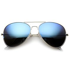 352c8b5295 Amazon.com  zeroUV - Classic Metal Teardrop Color Mirror Lens Aviator  Sunglasses w  Spring Hinges (Gold Fire)  Clothing