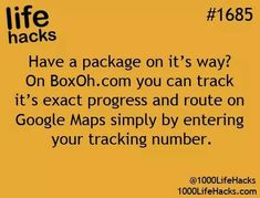 track any package via GPS and tracking number