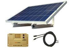 WindyNation Solar Panel Kits: Portable 12V Solar Panel Kits with Mount Rack and LCD Charge Controller