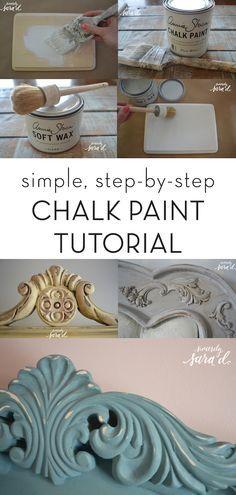 DIY simple chalk paint tutorial