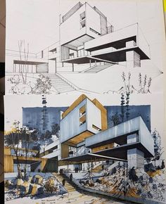 Nice Architectural Sketch Render By Mahdi Architectural Sketch Render By Mahdi Tag Your Frie Dress Models architectural Architecture sketches Frie Mahdi Nice - # Architecture Design Concept, Landscape Architecture Model, Architecture Art Nouveau, Architecture Drawing Sketchbooks, Architecture Concept Drawings, Art And Architecture, Architecture Diagrams, Architecture Colleges, Landscape Architecture