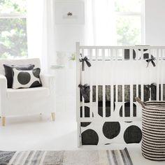 Spot On Charcoal Crib Bedding Set