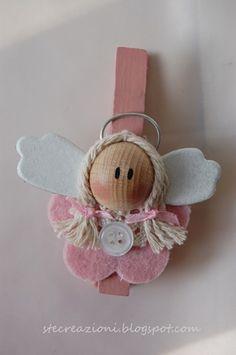 Angel rosa para colgar el la bolsa