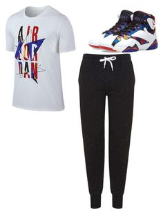 """""""match matchy"""" by mynameisyaya ❤ liked on Polyvore featuring Jordan Brand and Topshop"""