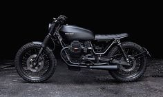 Recast Moto Murdered out Guzzi Nevada