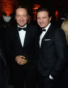 WASHINGTON, DC - APRIL 27: Kevin Spacey and Jeremy Renner attend the Bloomberg & Vanity Fair cocktail reception following the 2013 WHCA Dinner at the residence of the French Ambassador on April 27, 2013 in Washington, DC. (Photo by Dimitrios Kambouris/VF13/WireImage)
