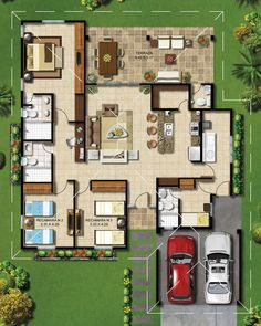 Living area is one side  while  private spaces are just on the opposite. Very good planning  in my opinion..