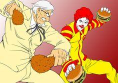 Ronald McDonald Vs. Colonel Sanders Geek Art and Videos — GeekTyrant