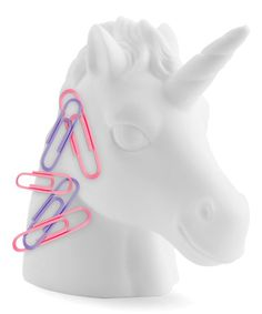 Buy Mustard: Unicorn Paperclip Holder online and save! **Unicorn – Paperclip Holder ** Surprisingly, the fact that unicorn exist is still questioned among specialists (At Mustard we KNOW they exist). Unicorn Head, Magical Unicorn, Cool Stationery, Girls Bedding Sets, Cute School Supplies, Office Supplies, White Unicorn, Kawaii, Gift Finder