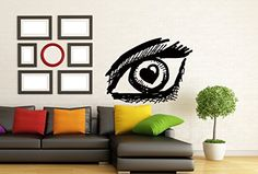 Wall Vinyl Decal Sticker Eye Vision and Heart Love Sign Art Design Room Nice Picture Mural Decor Hall Wall Chu1371 Thumbs up decals http://www.amazon.com/dp/B00FU8PV24/ref=cm_sw_r_pi_dp_Rjc2tb1MFFX5SVYT