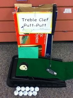 Go to http://wanelo.com/p/4824696/music-marketing-classroom to learn about making money with music - Treble Clef Putt-Putt | Music Class Ideas