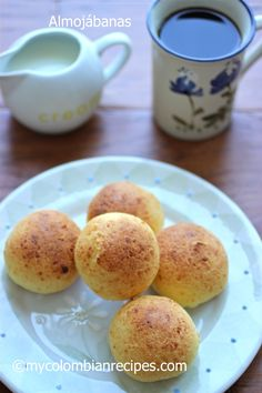 Almojábanas (Colombian Cheese Bread) Read Recipe by ericadinho My Colombian Recipes, Colombian Cuisine, Colombian Dishes, Cuban Recipes, Columbian Recipes, Bread Recipes, Cooking Recipes, Cheese Recipes, Donuts