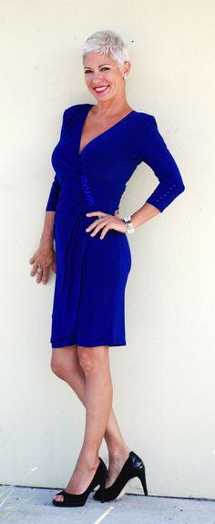 blauw kanten jurkje van #Joseph Ribkoff #Voila Rotterdam | Things to ...