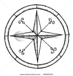 compass rose embroidery