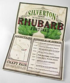 Silverton International Rhubarb Festival by John Adie, via Behance