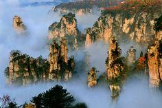 Montanhas Tianzi, na China, serviram de inspiração para o filme Avatar | #Jmj, #LugaresDoMundo, #MontanhasTianzi