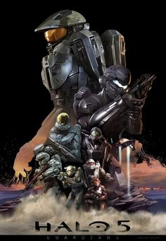 Personal Halo 5 poster idea, just for fun. HALO 5 (The Guardians) Halo Master Chief Collection, Halo Collection, Halo Poster, Master Chief And Cortana, Halo Drawings, Halo Armor, Halo Series, Halo Game, Gaming Posters