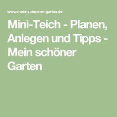 Mini-Teich - Planen, Anlegen und Tipps - Mein schöner Garten