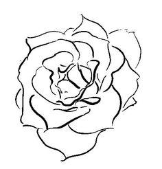 A drawn rose | Art Ideas | Pinterest | Rose