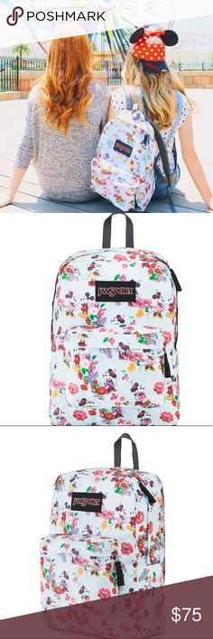 Disney Minnie Mouse Jansport Backpack If you're obsessed with Disney like I am, this is the perfect Backpack for you! This can be your kids next school year backpack or it can be your backpack for walking around Disney with. Jansport Bags Backpacks