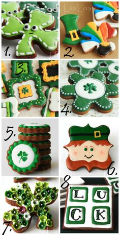 A collection of St. Patrick's Day cookie posts (LilaLoa).
