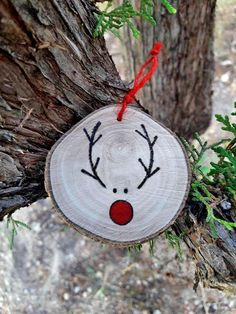 4 Rustic ChristmasReindeer Decoration Reindeer Ornament