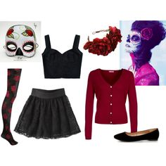 DIY Day of the Dead Costume by hannahgomez, via Polyvore