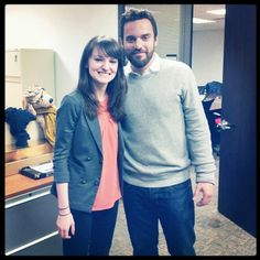 Jake Johnson with Anna Moeslein of GLAMOUR magazine. Click the pic for the great interview.