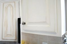 painting and distressing kitchen cabinets