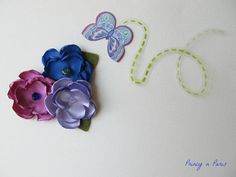 Blueberries set of 3 mini flower clips by PrincynParis on Etsy, $12.50