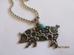 LIvestock show pig necklace