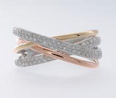 14K Three Tone Fashion Ring By Effy image 2
