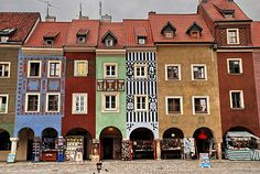 Quaint shops in The Old Town Poznań, Poland.