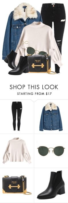 """17:55"" by monmondefou ❤ liked on Polyvore featuring Ray-Ban and Prada"