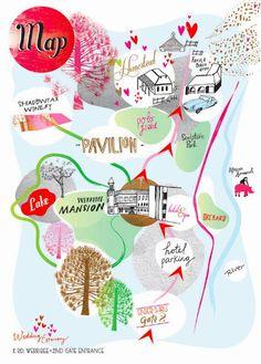 Letitia Buchan - homestead illustrated map via Vlinspiratie