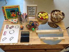 Risultato immagini per reggio emilia kindergarten activities Kindergarten Stem, Math Activities, Preschool Activities, Preschool Centers, Play Based Learning, Project Based Learning, Reggio Classroom, Classroom Ideas, 2d And 3d Shapes